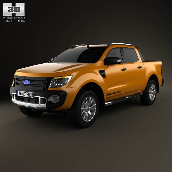 Ford Ranger Wildtrak Double Cab 2012 3d car model