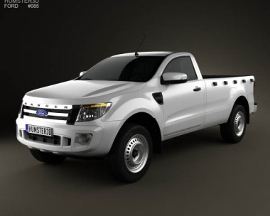 3D model of Ford Ranger Single Cab 2012