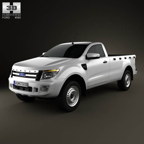 Ford Ranger Single Cab 2012 3d car model