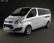 3D model of Ford Tourneo Custom LWB 2013
