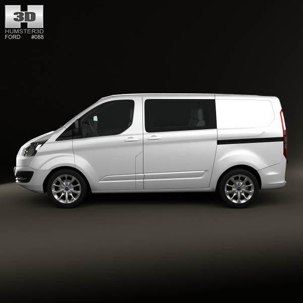 Ford Transit Custom Crew Van SWB 2013 3d car model