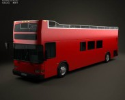 3D model of Gillig Low Floor Double Decker Bus 2012