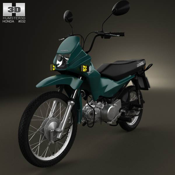 Honda POP 100 2012 3d car model