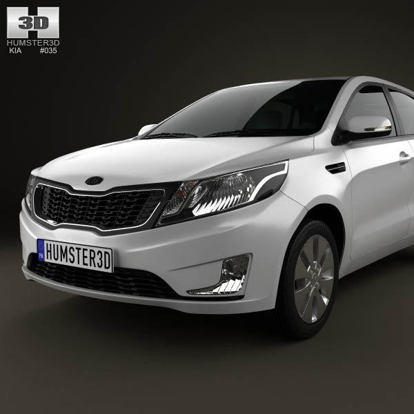 Kia Rio (K2) hatchback 5-door 2012 3D model - Humster3D: http://humster3d.com/2012/11/28/kia-rio-k2-hatchback-5-door-2012/