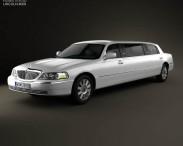 3D model of Lincoln Town Car Limousine 2011