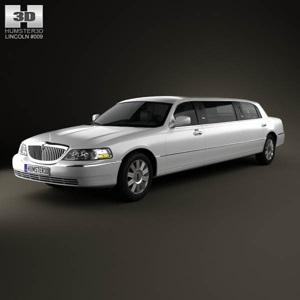 Lincoln Town Car Limousine 2011 3d car model