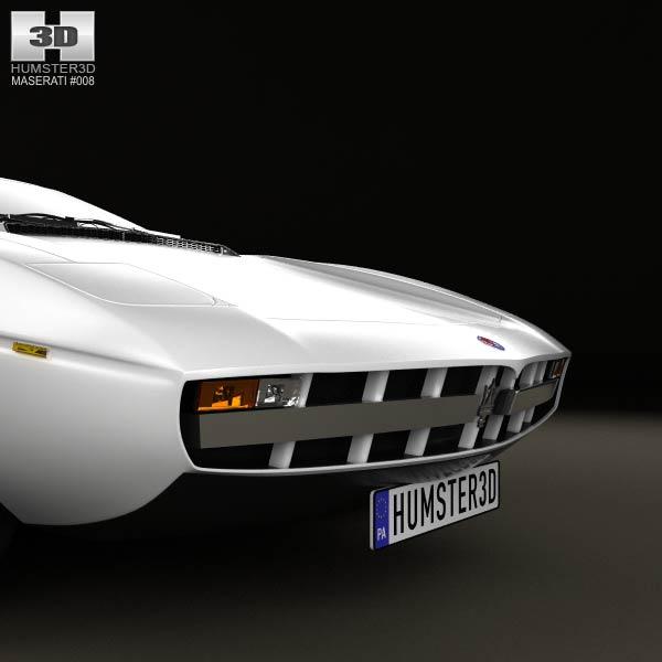 Maserati Merak 1972 3D Model download (3ds max, obj formats ...