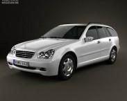 3D model of Mercedes-Benz C-Class (W203) estate 2005
