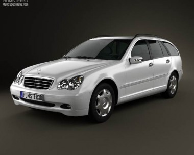 3D model of Mercedes-Benz C-Class (W203) estate 2005