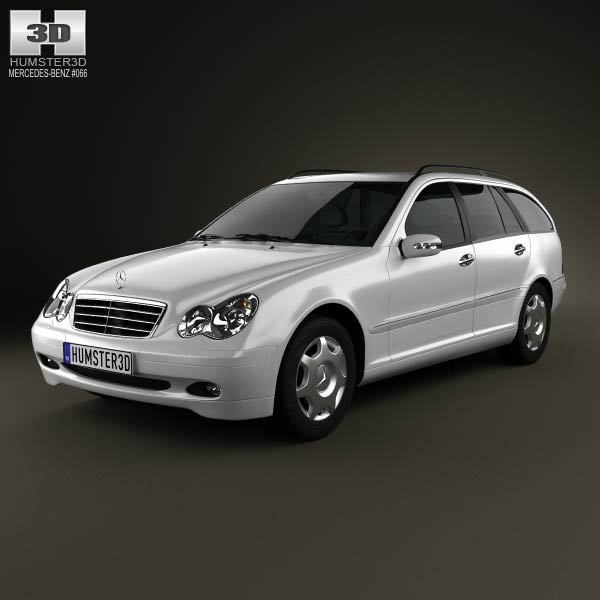 mercedes benz c class w203 estate 2005 3d model humster3d. Black Bedroom Furniture Sets. Home Design Ideas