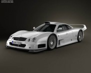 3D model of Mercedes-Benz CLK-class GTR AMG 1999