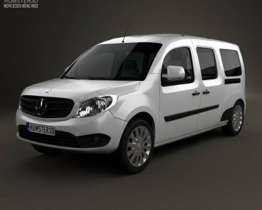 3D model of Mercedes-Benz Citan Crew Bus 2012
