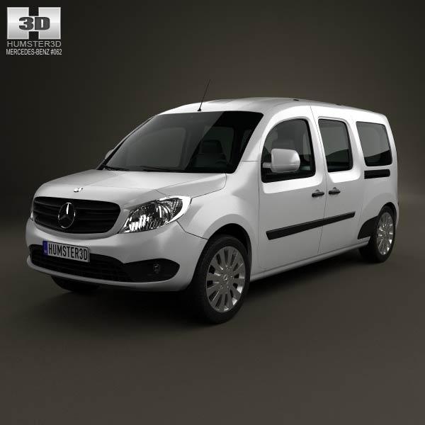 Mercedes benz citan crew bus 2012 3d model humster3d for Mercedes benz 2012 models