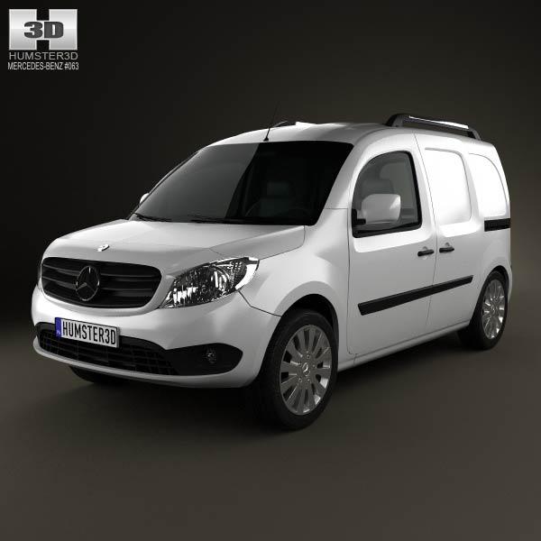 Mercedes benz citan delivery van 2012 3d model humster3d for Mercedes benz van models