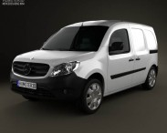 3D model of Mercedes-Benz Citan Mixto 2012