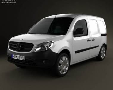 3D model of Mercedes-Benz Citan Mixto 2012