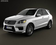 3D model of Mercedes-Benz ML-class AMG (W166) 2012