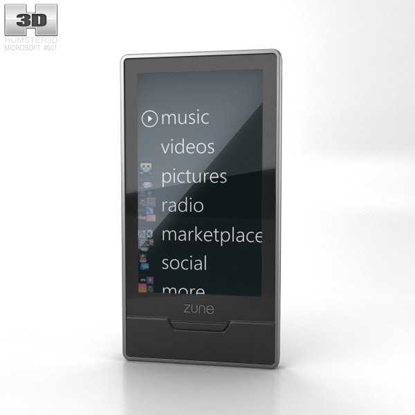 Microsoft Zune HD 16 Gb 3d model