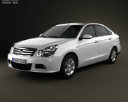 3D model of Nissan Almera (Sylphy) 2012