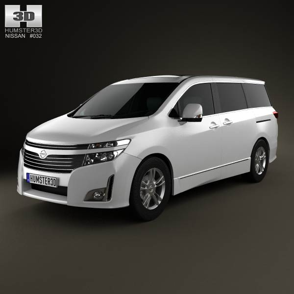 Nissan Elgrand (E52) 2012 3d car model