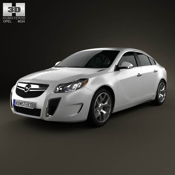 Opel Insignia OPC sedan 2012 3d car model