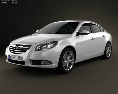 3D model of Opel Insignia hatchback 2012