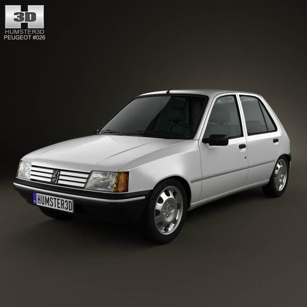 Peugeot 205 5-door 1998 3d car model
