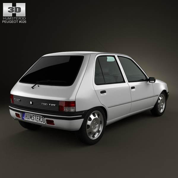 Peugeot 205 5-door 1998 3d model