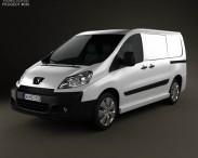 3D model of Peugeot Expert II Panel Van L1H1 2011