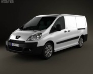 3D model of Peugeot Expert II Panel Van L2H1 2011