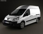 3D model of Peugeot Expert II Panel Van L2H2 2011