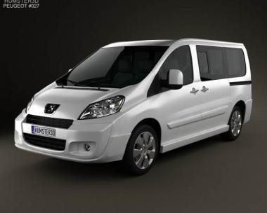 3D model of Peugeot Expert II combi L1H1 2011