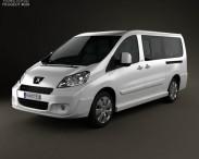 3D model of Peugeot Expert II combi L2H1 2011