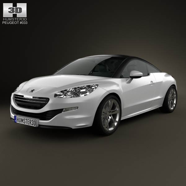Peugeot RCZ coupe 2013 3d car model