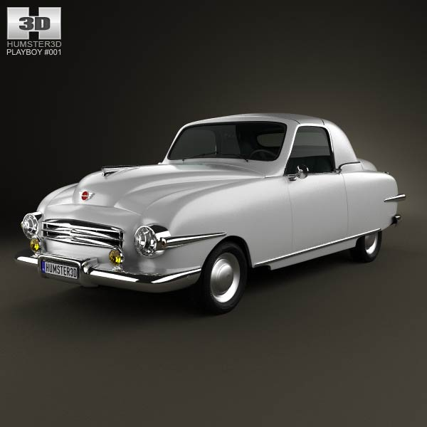 Playboy Convertible 1951 3d car model