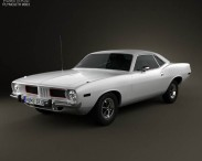 3D model of Plymouth Barracuda hardtop 1974