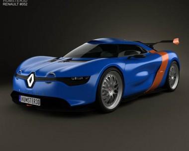3D model of Renault Alpine A110-50 2012