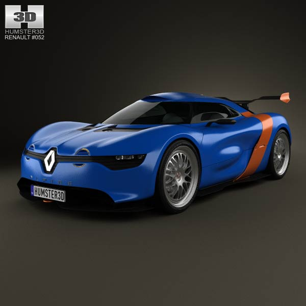 Renault Alpine A110-50 2012 3d car model