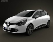3D model of Renault Clio IV Estate 2013