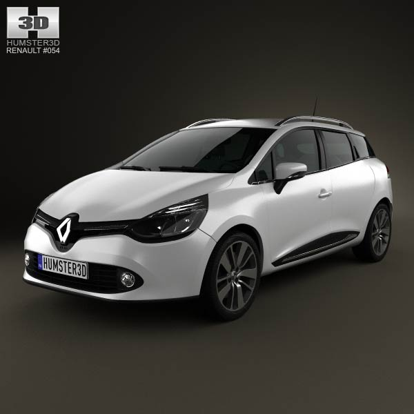 Renault Clio IV Estate 2013 3d car model