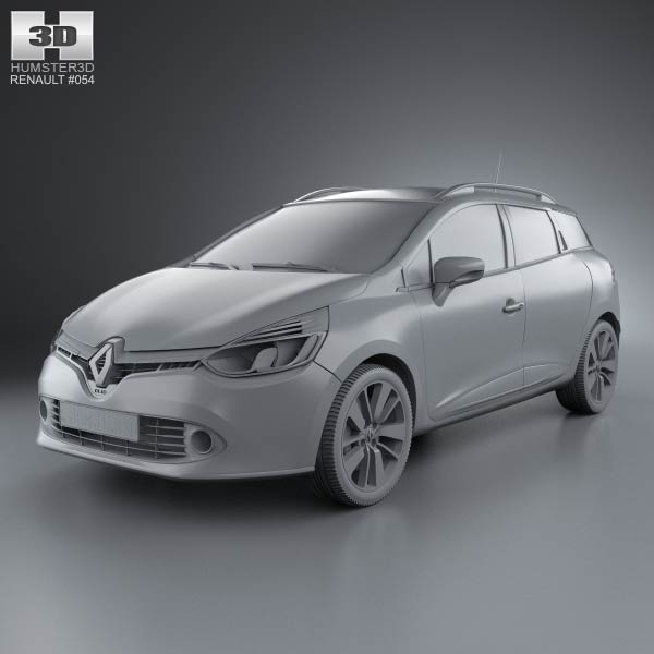 renault clio iv estate 2013 3d model humster3d. Black Bedroom Furniture Sets. Home Design Ideas