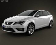 3D model of Seat Leon wagon 2013