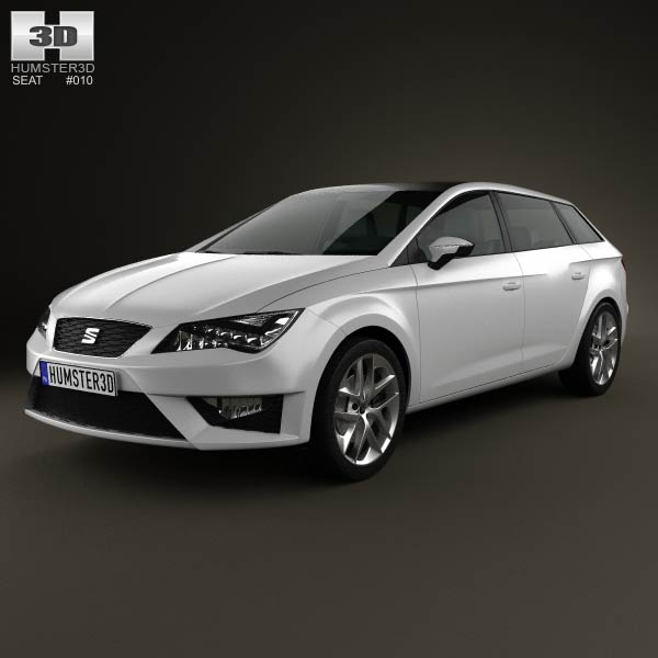Seat Leon wagon 2013 3d car model