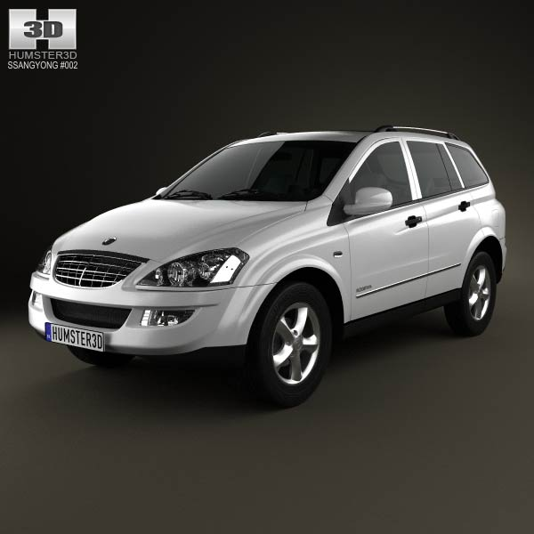 SsangYong Kyron 2011 3d car model