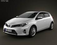 3D model of Toyota Auris hatchback 5-door 2013