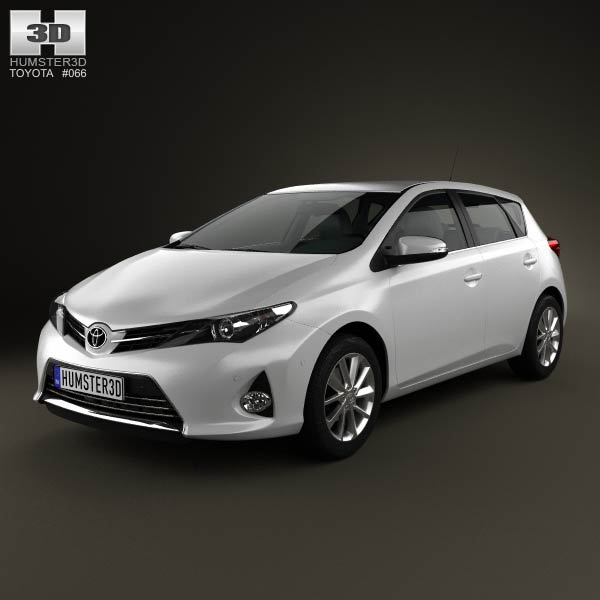 Toyota Auris hatchback 5-door 2013 3d car model