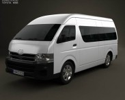 3D model of Toyota HiAce Super Long Wheel Base 2012