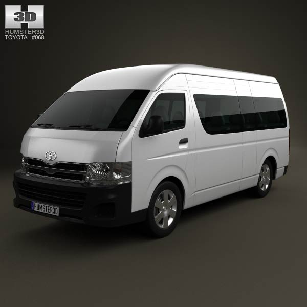 Toyota HiAce Super Long Wheel Base 2012 3d car model