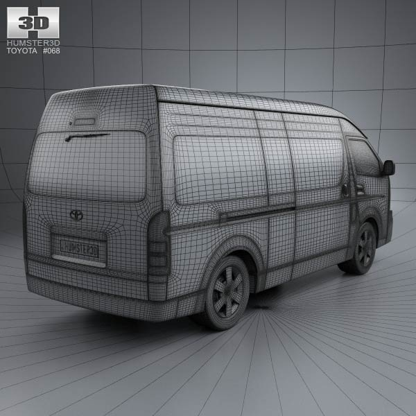 Toyota hiace super long wheel base 2012 by 3d model store humster3d
