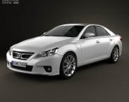 3D model of Toyota Mark X 2012